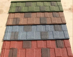 Stone Coated Zn-Al Steel Roof Tile for budiling