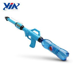Summer kids plastic toy water gun with screwed soda pop bottle
