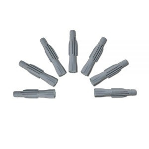 Super September 5mm 6mm 8mm Pvc Expansion Furniture Fasteners Fixing Nylon Plastic Drywall Wall Plugs Anchor for Insulation