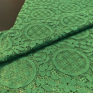 Wholesale Custom Fashion  guipure cotton mesh embroidery lace fabric