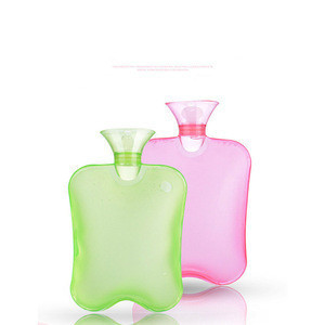 Wholesale transparent high-density  water-filled flushing thickened explosion-proof water injection pvc hot water bottle