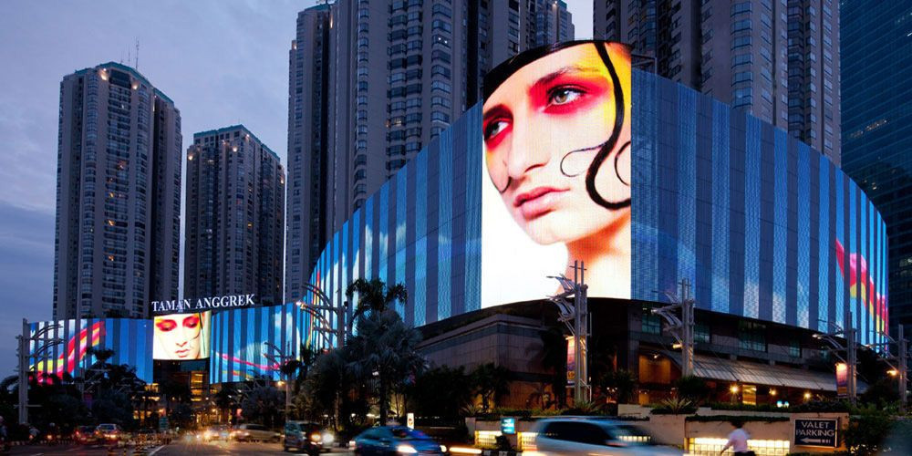 P56 LED Media Facade Display For Architectural  Visual  Solution