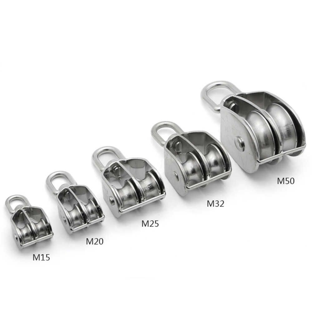 Stainless Steel Stamped and Welded Swivel Eye Pulley,Double/Single Wheel-for sale