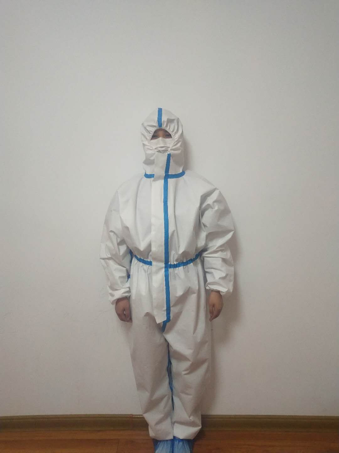 Disposable Protective Clothing Non-Porous Ventilation Block infeetion Anti-Dust Isolation Clothing Uniforms