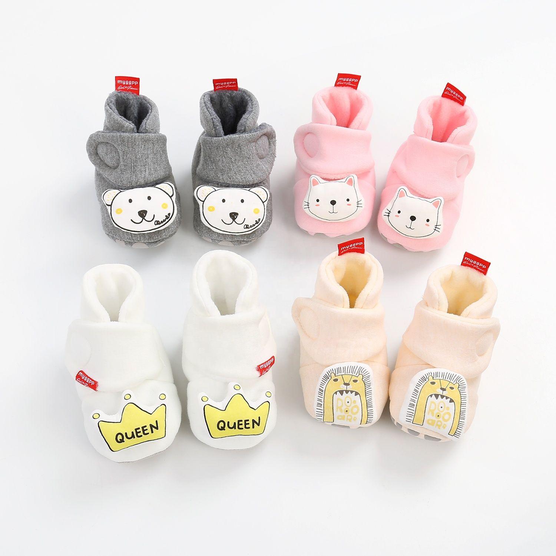 Soft Infant Cotton Wool Newborn Baby Booties