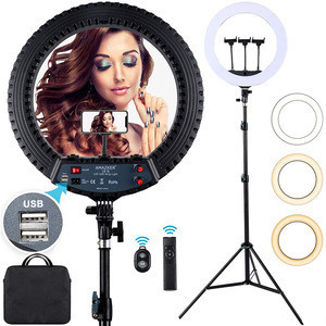 18 inch Ring Light 55W Photo Studio Portable Photography Ring Light LED Video Light with tripod stand