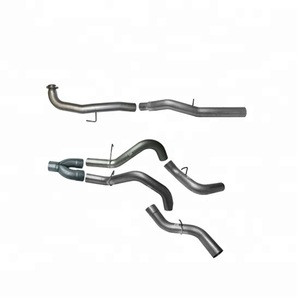 5 inch Downpipe Back DUAL System, Fit 2017, 6.6L, 2500/3500, L5P, Race Exhaust