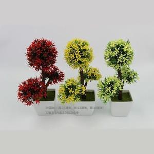Artificial Tree Plant Grass Flower Bonsai Pots Simulation 3 heads Miniscape Wedding Home Decoration