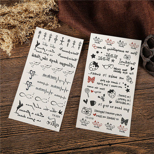 Best Selling 3D Fashion Design Different Pattern Temporary Tattoo Sticker