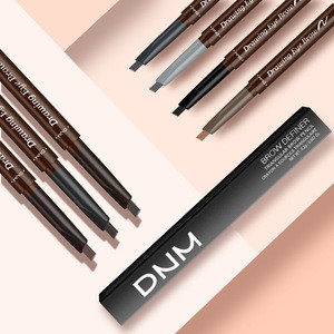 Black  Eyebrow Pen Brush Waterproof Long lasting Private Label 7 colors Eyebrow Pencil