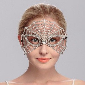 Deluxe Spider Queen Mask for christmas Hallowmas Party Phantom White Metal Masquerade Swan Bridal Mask