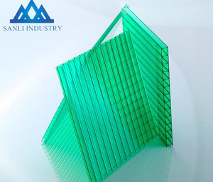 Double Layer PC Hollow Sheet/three layers polycarbonate shees/pc roofing sheet