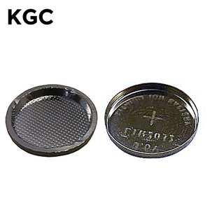 Factory Direct Platinum-Coated CR2032 Button Cell Cases (20d x 3.2mm) with O-ring, 1 pair
