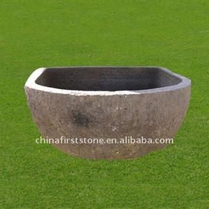 Factory Supply GGV081 38x48x 135cm Granite Garden Planter Pot