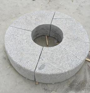 Granite kerbstone in curve