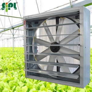 Greenhouse Ventilation Cooling Fan Sunny Solar Vent Tools High Pressure 380w DC Motor Driven 8 Blades 48 Inch Wall Exhaust Fan