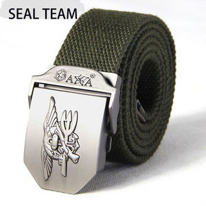 Hot Sale Army Belt Classic Canvas Style With Metal Head Clip OEM Service Offered