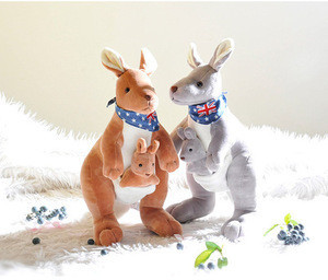 Mother and child kangaroo plush toys Australia baby kangaroo baby dolls Child and child dolls appease dolls