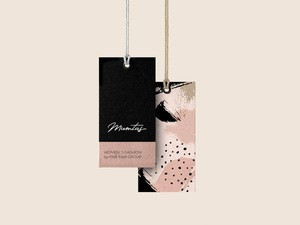 OEM Custom Trendy Paper Hang Tag with String for Garments