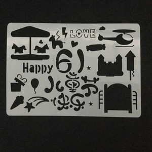 Plastic cake stencil for decoration custom made factory sales