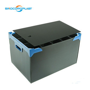 Plastic Shipping Turnover Box for Electronic Security Transport Crate