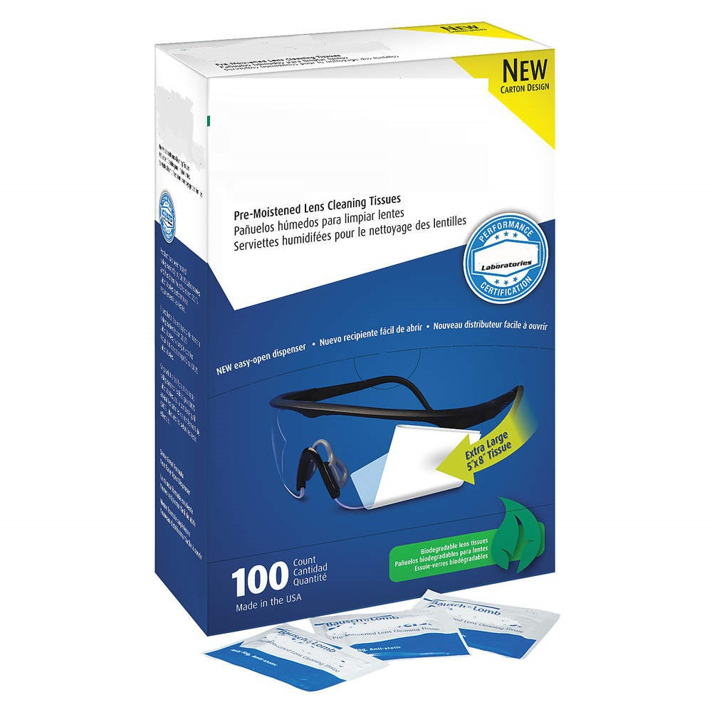 Pre-Moistened Cleaning Tissues, PK100