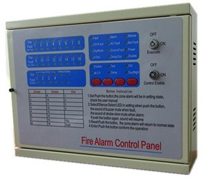 Professional fire control panel zone alarm strobe siren security system