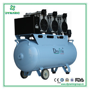 Silent oil free air compressor with 3 pcs 750W compressor head for biogas air compressor (DA7003)