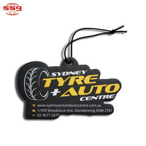 SSG Hanging Paper Custom Car Air Freshener with Personalized Shape and Logo