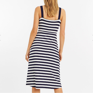 Stripe long style temperament shows thin dress