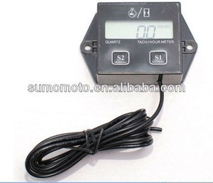 Tach Hour Meter for Motorcycle ATV Snowmobile Boat Stroke Gas Engine Generator HP-02-TACH