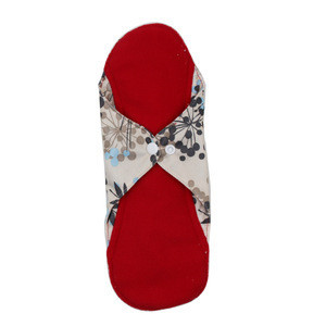 Washable Cloth Menstrual Pads Cloth Sanitary Pads Cloth Tampon Printing Outside 2 layer Microfiber Inner Polar Fleece 23*28cm