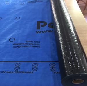 Waterproof synthetic roof underlayment