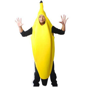 Wholesale Halloween costumes Fancy Cosplay Adult Banana Costumes