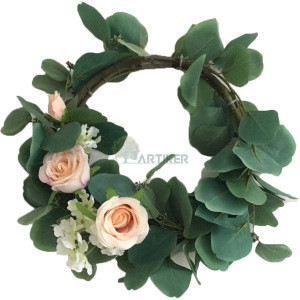 Wholesale indoor decorative Wedding Spring Door flowers Wreaths for Front Door Eucalyptus Wreath