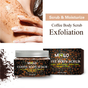 Wholesale OEM Private Label Natural Coffee Face Scrub Organic Deep Cleansing Facial Body Scrub