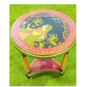 Wooden Folding Portable 2 Chairs & 1 Round Table (Model: 128)