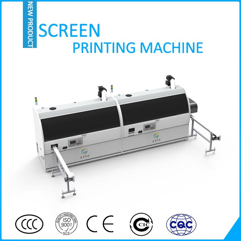 Automatic two colors bottle screen printer
