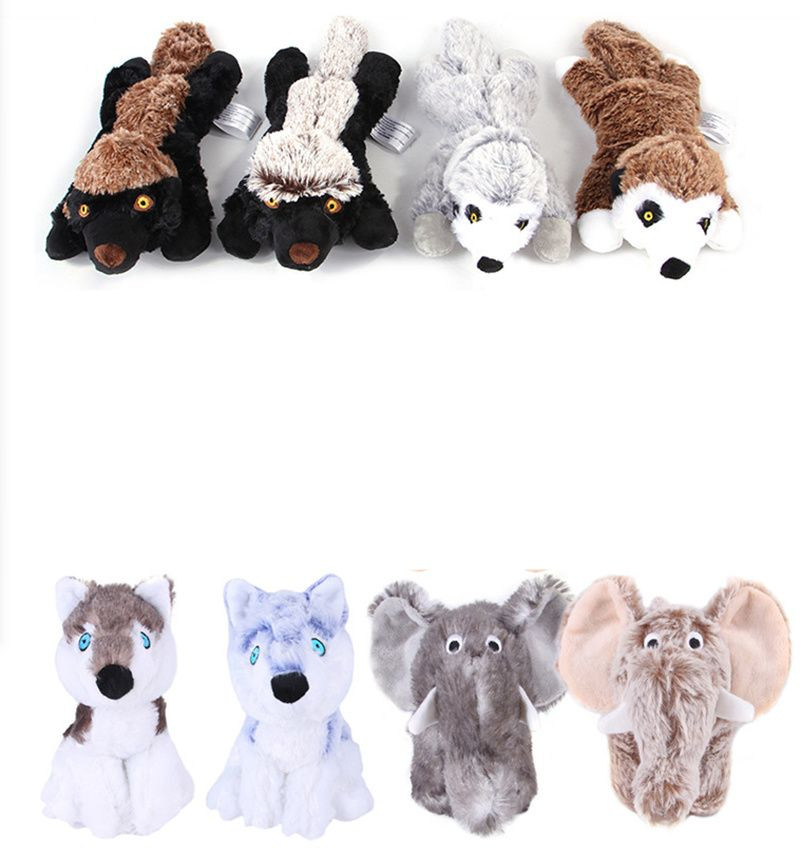 Pet plush toys Dog chews teeth vent training animal short plush vocal toys