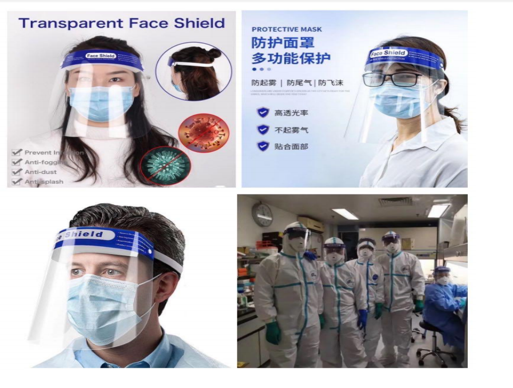 Disposable dental Medical protective anti-fog Face splash shield