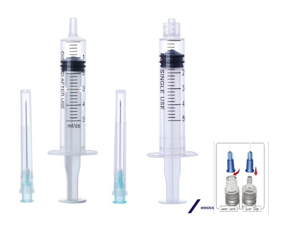 DISPOSBLE SYRINGE WITH/ WITHOUT NEEDLE