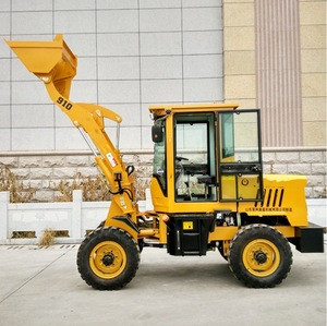 1 ton mini wheel loader with grapple grass fork quick hitch for sale