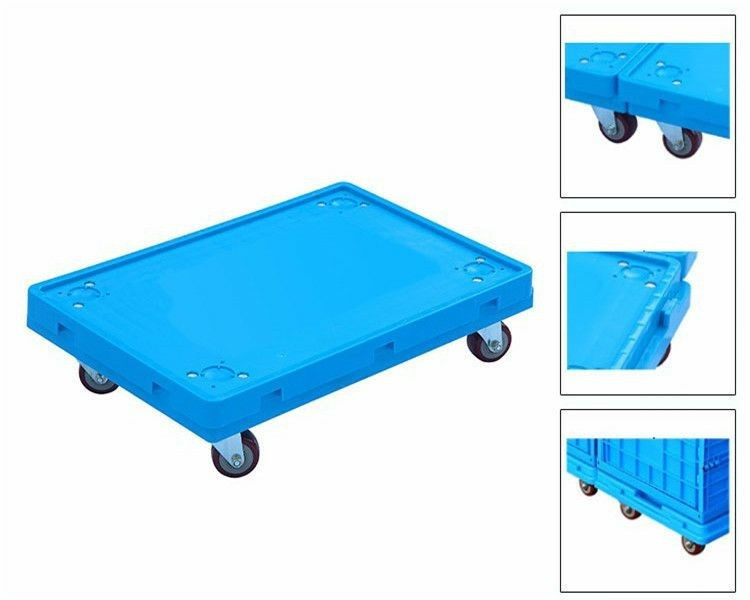 4 Trolley Wheels Plastic Moving Pallet Plastic Tote Move Dolly