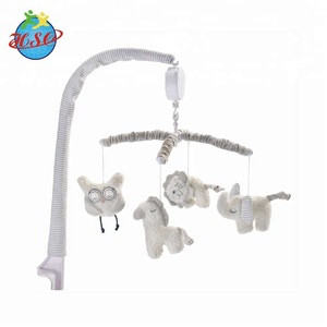 Baby Crib Bedding Decorative Rattle Toy Plush Musical Baby Mobiles