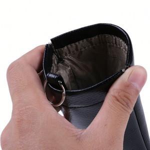 black key wallet ,NAYag genuine leather car key bag