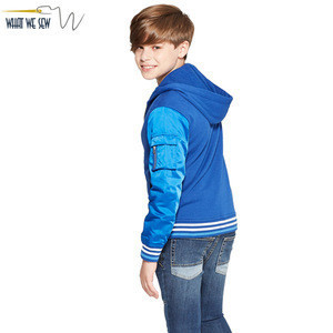 Children's Glossy Long Sleeve Coats Boys' School Blue Bomber Jackets