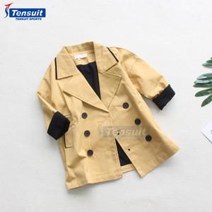 Cool design double button coats custom kids winter jacket