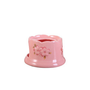 CY160 Chocolate Fountain High Temperature Resistant Ceramic Chocolate Waterfall Mini Fondue Fountain Pink Bakeware Gift Set