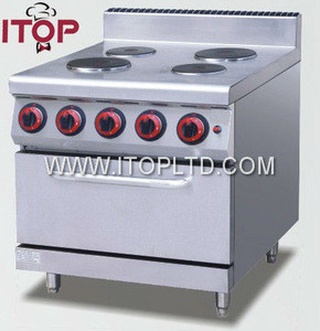 Electric cooktops with oven or cabinet