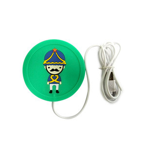 Electric Heating USB Cartoon Cup Mat Silicone Mug Pad